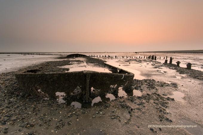 Het schipwrak bij Wierum