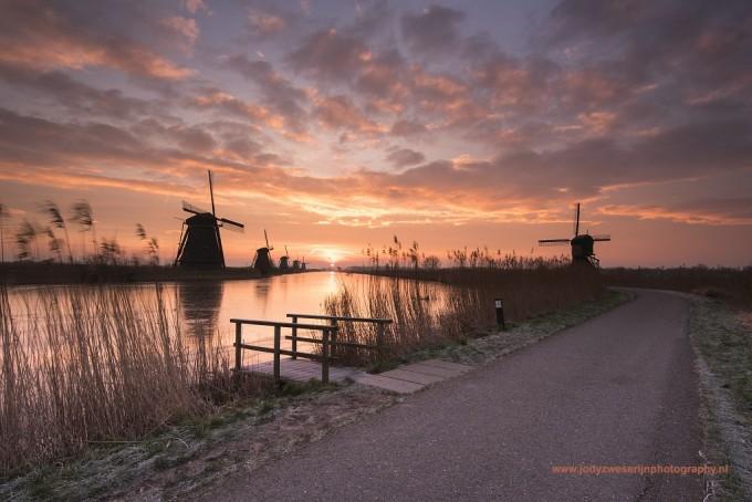 Kinderdijk: Uitgekiende zonsopkomsten