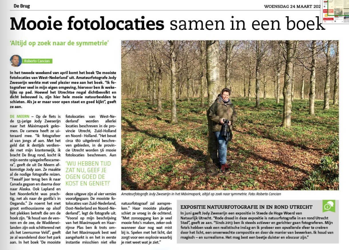 Interview met mij in weekkrant De Brug