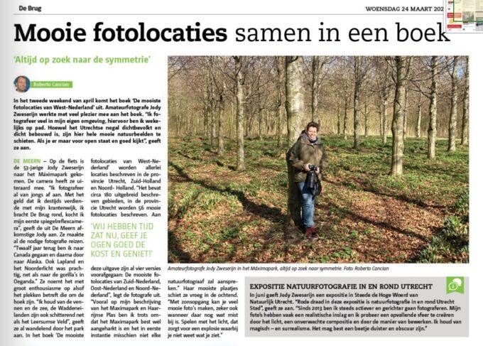 Interview met mij in weekkrant De Brug